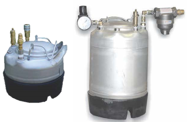 Cold glue adhesive tanks